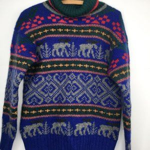 Vintage Eddie Bauer Turtleneck Wool Knit Sweater S